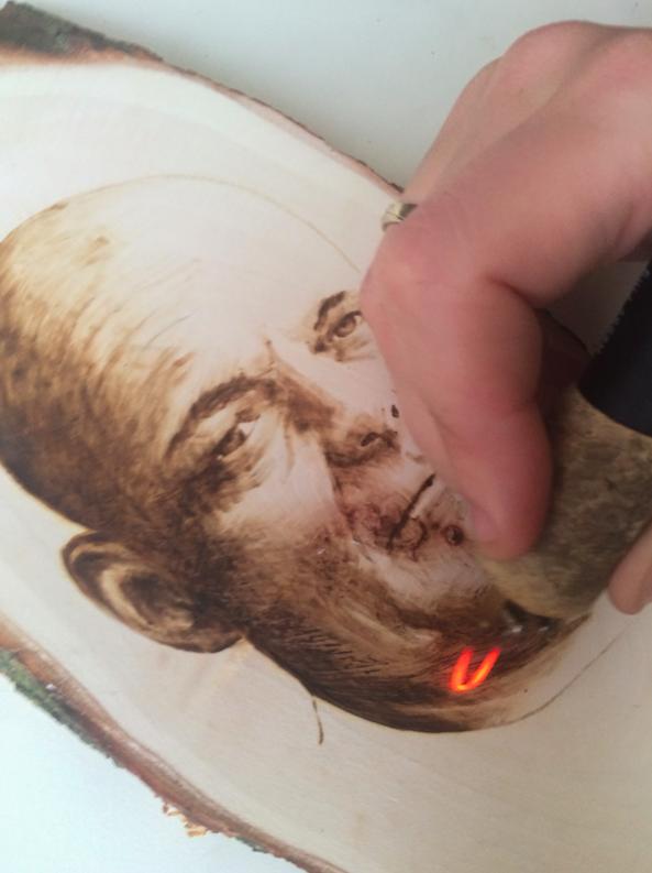 Brandschilderen portret